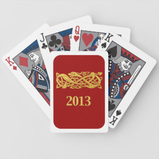 Chinese New Year - Year Of The Snake 2013 Bicycle Playing Cards at Zazzle