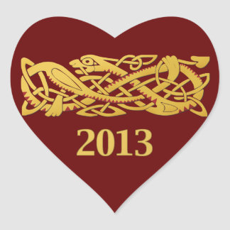 Chinese New Year - Year Of The Snake 2013 Heart Sticker