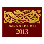 Chinese New Year - Year Of The Snake 2013 Postcard