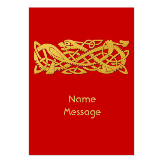 Chinese New Year - Year Of The Snake 2013 Red Large Business Card