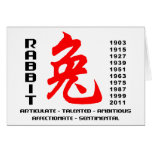 Chinese New Years of The Rabbit Gift Card