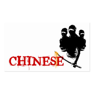 chinese : ninja noodles business card