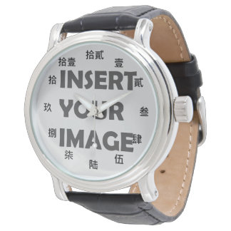 Chinese Numeral Character (Black font) Wristwatch