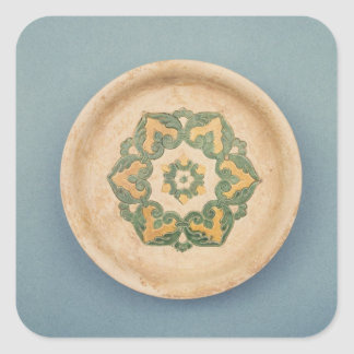 Chinese offering dish square sticker