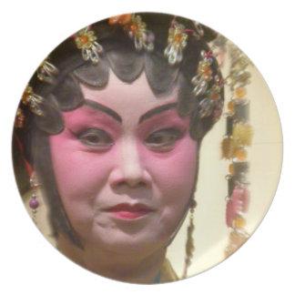 Chinese Opera Dancer Melamine Plate