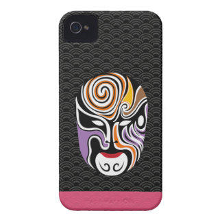 Chinese Opera Make Up Iphone Case 3 (Black)