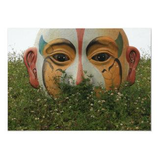 Chinese opera mask, Chiayi, Taiwan Card