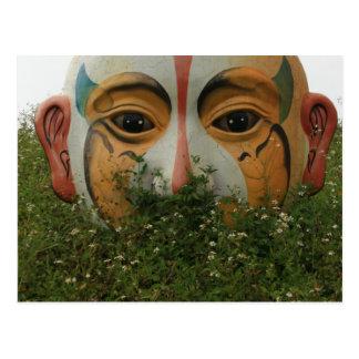 Chinese opera mask, Chiayi, Taiwan Postcard