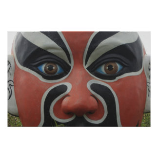 Chinese opera mask, Chiayi, Taiwan Poster
