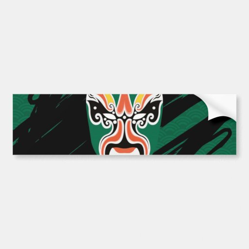 Chinese Opera Pop Art! Car Bumper Sticker