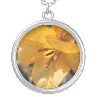 Chinese Orange Paper Flower Necklace