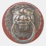 Chinese ornament classic round sticker