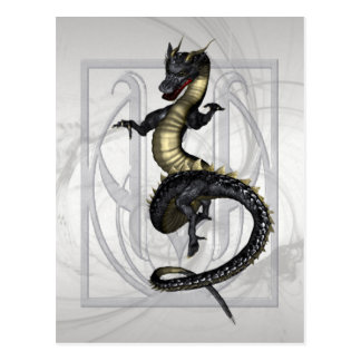 Chinese Ornamental Dragon Postcard