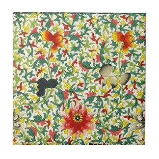 Chinese Ornamental Floral Art Ceramic Tile
