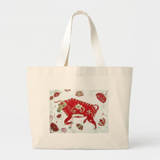 Chinese Ox Astrology Bag
