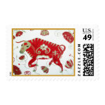 Chinese Ox Astrology Postage