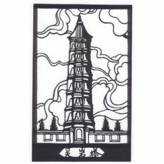 Chinese Pagoda Cutout