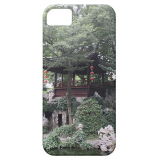 Chinese Pagoda Gazebo Along River Bank iPhone 5 Cover