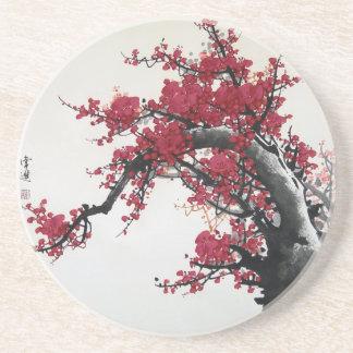 Chinese Painting - Cherry Blossom Coaster