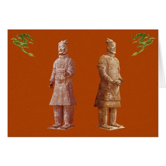 Chinese Palace Guards greeting card