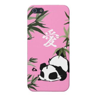 Chinese Panda Love Symbol Cover For iPhone SE/5/5s