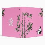 Chinese Panda Pink Binder
