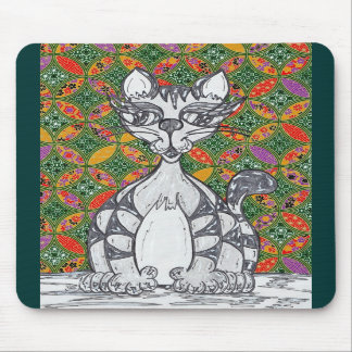 Chinese Paper Cat 2 Mousepad