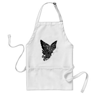 Chinese Paper-Cut Butterfly Design - Apron