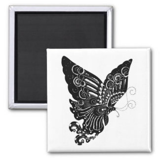 Chinese Paper-Cut Butterfly Design - Magnet