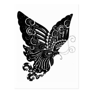 Chinese Paper-Cut Butterfly Design - Postcard