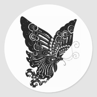 Chinese Paper-Cut Butterfly Design - Sticker
