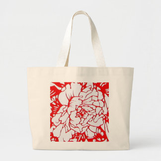 Chinese Paper-Cut Peony in Red - Bag