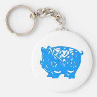 Chinese paper cutting art : PIG (V4) Keychain