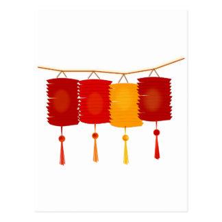 Chinese Paper Lanterns Post Card