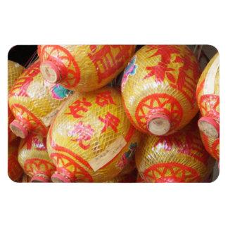 Chinese Paper Lanterns Rectangular Magnet