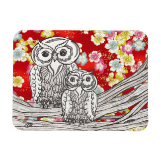 Chinese Paper Owls 10 Rectangular Photo Magnet