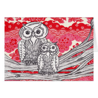 Chinese Paper Owls 11 Card
