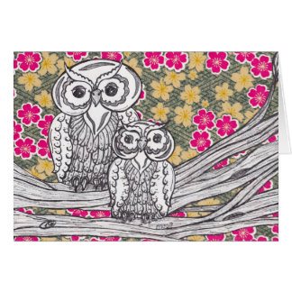 Chinese Paper Owls 12 Card
