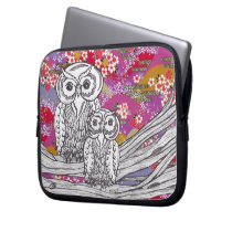 Chinese Paper Owls 14 Electronics Bag
