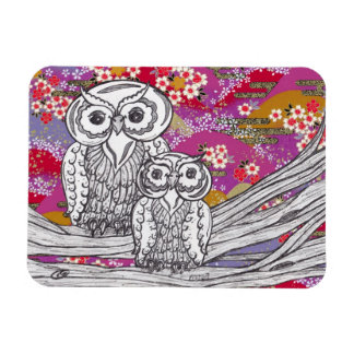 Chinese Paper Owls 14 Rectangular Photo Magnet