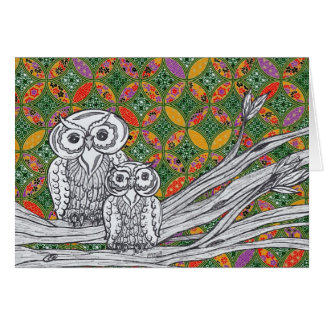Chinese Paper Owls 1 Card