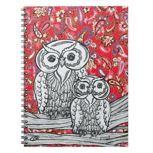 Chinese Paper Owls 1 Notebook
