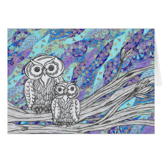 Chinese Paper Owls 2 Card