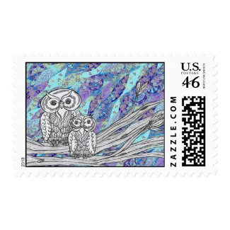 Chinese Paper Owls 2 Postage stamp