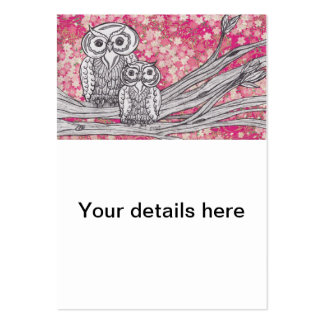 Chinese Paper Owls 4 Business Cards