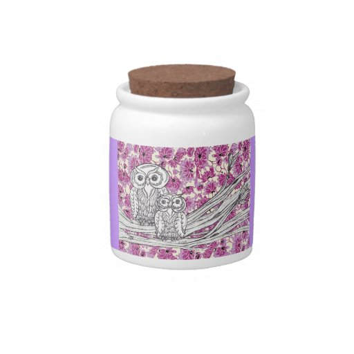 Chinese Paper Owls 7 Candy Jar