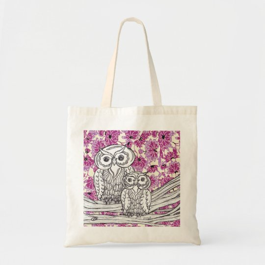 Chinese Paper Owls 7 Grocery Bag
