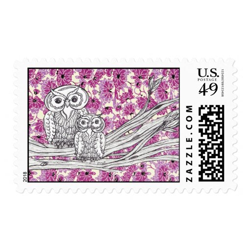 Chinese Paper Owls 7postage Postage Stamps