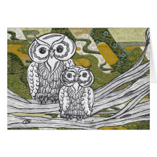 Chinese Paper Owls 8 Card
