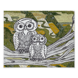 Chinese Paper Owls 8 Posters